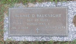 Bennie D Bauknight