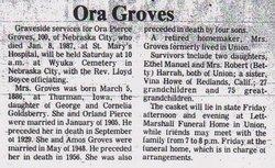 Ora J. Ottie <i>Goldsberry</i> Groves