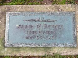 Annie Marie <i>Jensen</i> Betker
