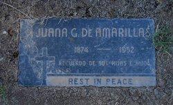 Juana <i>Galindo</i> Amarillas