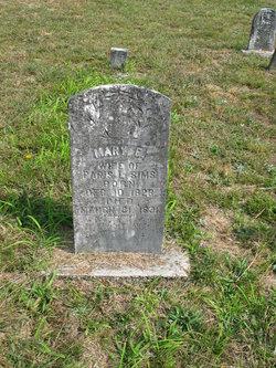 Mary E. <i>McGlamery</i> Simms