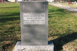 Wayne County Poor Farm Cemetery