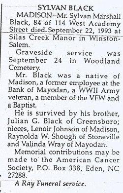 Sylvan Marshall Black
