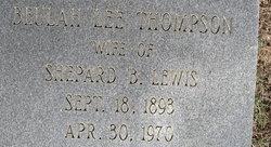 Beulah Lee <i>Thompson</i> Lewis
