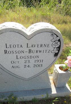 Leota LaVerne <i>Rosson Burwitz</i> Logsdon