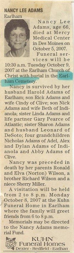 Nancy Lee <i>Wilson</i> Adams