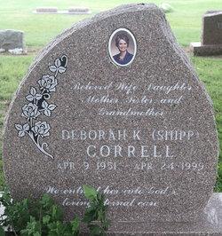 Deborah K <i>Shipp</i> Correll