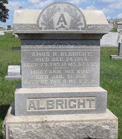 Mary Ann <i>Rohrbaugh</i> Albright