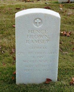 Hence Brown Ramsey
