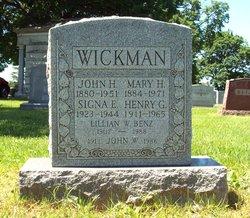 Lillian W <i>Wickman</i> Benz