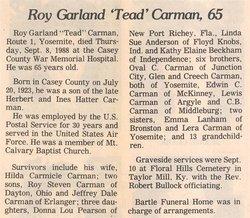 Roy Garland Carman