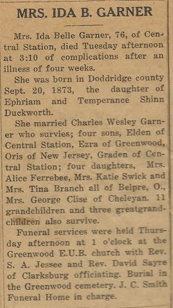 Ida Bell <i>Duckworth</i> Garner