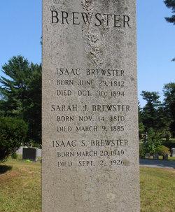 Sarah J. <i>Bartlett</i> Brewster