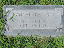 Hannah B <i>Rierson</i> Matson