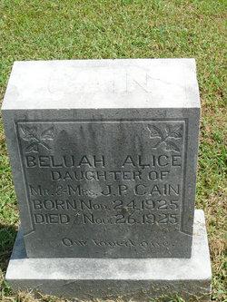 Beluah Alice Cain