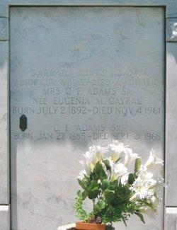 Eugenie <i>Gayral</i> Adams