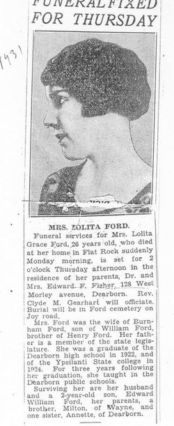 Lolita G. <i>Fisher</i> Ford