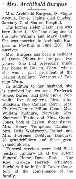 Helen P. <i>Dakin</i> Burgess