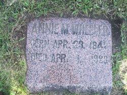 Annie M. <i>Goddard</i> Wheeler