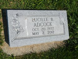 Lucille Bernice <i>Eichelberger</i> Adcock