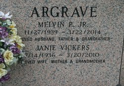 Janie <i>Vickers</i> Argrave