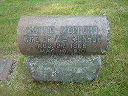 Mattie <i>Morford</i> Monroe