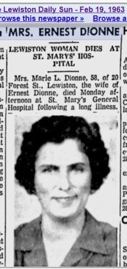 Marie <i>Lagasse</i> Dionne