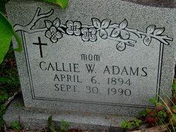 Callie W. <i>Wilkerson</i> Adams