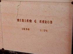 Miriam G Aaron