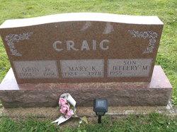 Mary K <i>Campbell</i> Craig