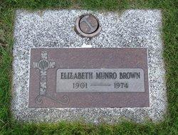 Elizabeth Margaret <i>Munro</i> Brown