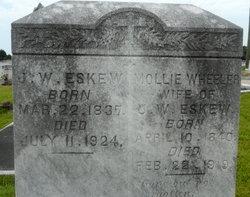 Mary F Mollie <i>Wheeler</i> Eskew