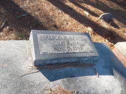 Alice <i>Smith</i> Lewis