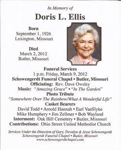 Doris Lorraine <i>Fizer</i> Ellis