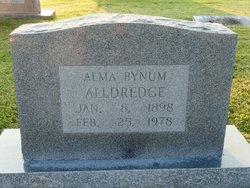 Alma <i>Bynum</i> Alldredge