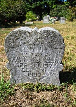 Hettie <i>Crist</i> Kalbitzer