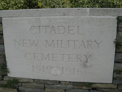 Citadel New Military Cemetery, Fricourt