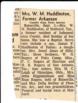 Hettie <i>Rogers</i> Huddleston