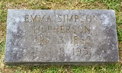 Emma <i>Simpson</i> McPherson