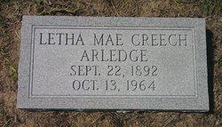 Letha Mae <i>Creech</i> Arledge