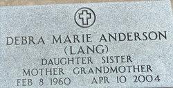 Debra Marie <i>Lang</i> Anderson