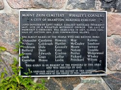 Mount Zion Cemetery Whaley's Corners