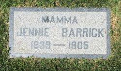 Jane Rebecca Jennie <i>Ott</i> Barrick