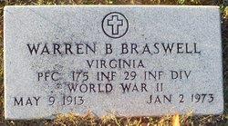 Warren B Braswell