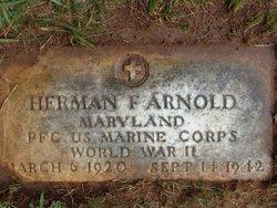 PFC Herman F Arnold