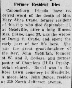 Mary Alice <i>Manes</i> Crane