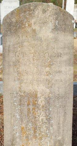 Martha E. <i>Braswell</i> Taylor