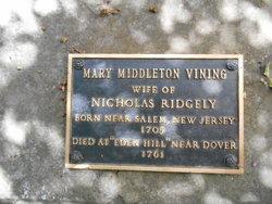 Mary <i>Middleton</i> Ridgely