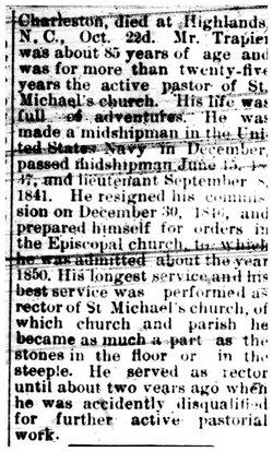 Rev Richard Shubrick Trapier