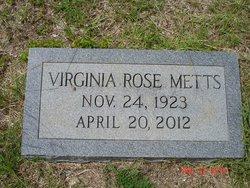 Virginia Rose Aunt Jennie Metts